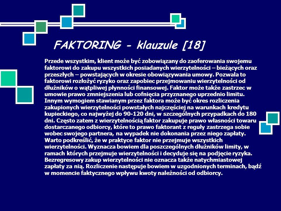 FAKTORING - klauzule [18]